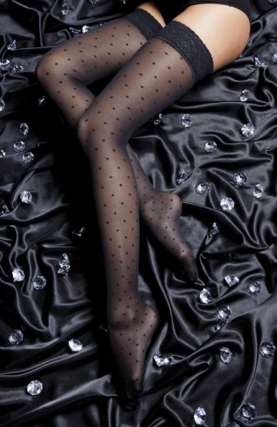 Ciorapi pana la coapsa 140 DEN, model Attraction, clasa I